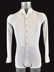 Ballroom standard shirt for tailsuit/ Color white white