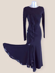 Iva ballroom black practice standard dance dress